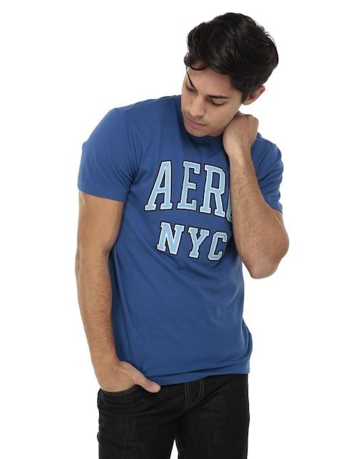 Playera Aéropostale cuello redondo azul 38e7a3813b43a